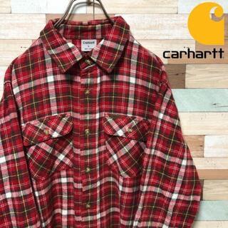 カーハート(carhartt)の【美品❗️】carhartt トリプルステッチ チェック ネルシャツ(シャツ)