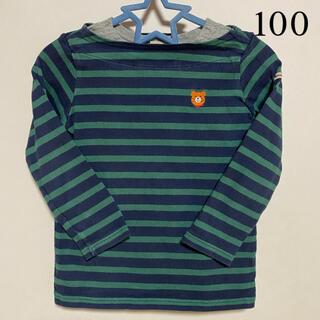 ホットビスケッツ(HOT BISCUITS)のミキハウス ホットビスケッツ ロンT  長袖 ボーダー 100サイズ(Tシャツ/カットソー)
