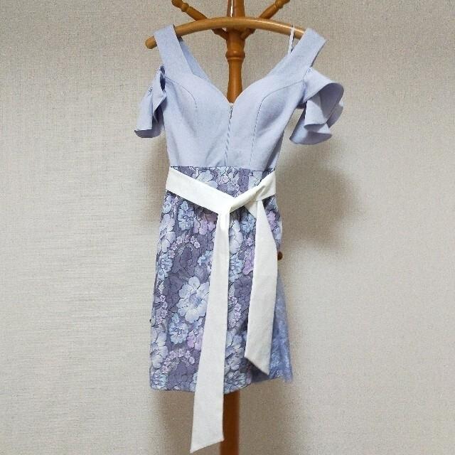 JEWELS(ジュエルズ)のてんちゃん様 キャバドレス 花柄レース サックス 水色 レディースのフォーマル/ドレス(ナイトドレス)の商品写真