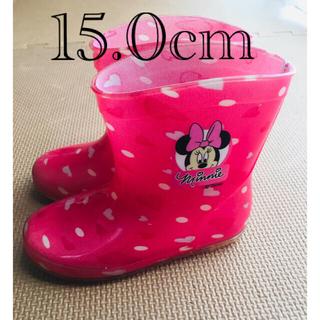 Disney - 女の子 長靴 15.0cm ピンク ミニーマウス ミニー
