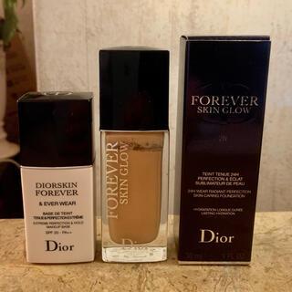 Christian Dior - ディオールスキン フォーエヴァー フルイド グロウ 2N &下地