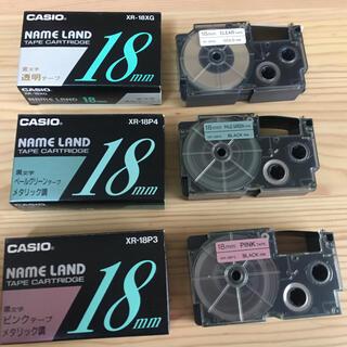 カシオ(CASIO)の《カシオ ネームランド》18ミリテープ6本組(オフィス用品一般)