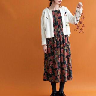 アトリエドゥサボン(l'atelier du savon)のお花 刺繍 カーディガン(カーディガン)