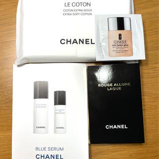 Chanel Clinique 試供品セット コットン スキンケア リップ