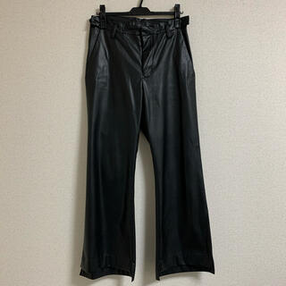サンシー(SUNSEA)の【RYO TAKASHIMA】Fake Leather Flare Pants(スラックス)