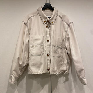 doublet HEAVY TWILL CUT OFF JACKET ホワイト
