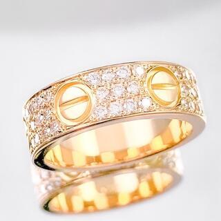 Cartier - 【仕上済】カルティエ ラブリング 7号 YG ダイヤ 指輪 リング