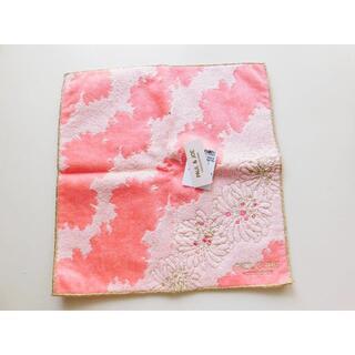 PAUL & JOE - 新品♥Paul &Joe タオルハンカチ ピンク 刺繍