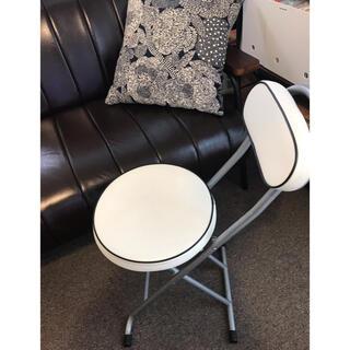 レザー 折り畳み 椅子 イス ホワイト レトロモダン レトロポップ アメリカン