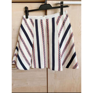 サカイラック(sacai luck)のsacai luckサカイラックツィード台形スカート(ミニスカート)