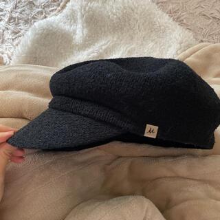 ミラオーウェン(Mila Owen)のミラオーウェン 帽子 黒(キャスケット)