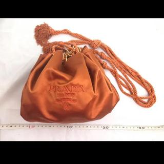 PRADA - PRADA 巾着バッグ オレンジ