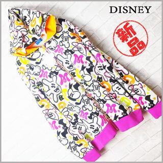 ディズニー(Disney)の新品 disney 猫耳&八重歯付フード キャラクター 総柄 パーカー(パーカー)