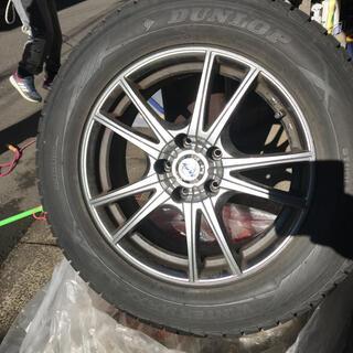 ダンロップ(DUNLOP)のバリ山 タイヤホイールセット スタッドレス 4本セット(タイヤ・ホイールセット)