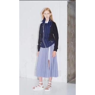 サカイラック(sacai luck)の//ましろん様専用//sacai luckサカイラックプリーツスカート水色1(ロングスカート)