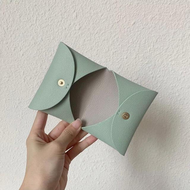 *新色入荷*コーラルベージュ♡ミニ財布♡名刺入れ♡カードケース レディースのファッション小物(名刺入れ/定期入れ)の商品写真