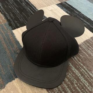 エイチアンドエム(H&M)のエイチアンドエム H&M キャップ 帽子 ブラック ディズニー(キャップ)