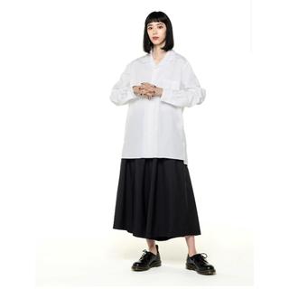 Yohji Yamamoto - Broad Open Collar Shirt オープンカラーシャツ ホワイト白