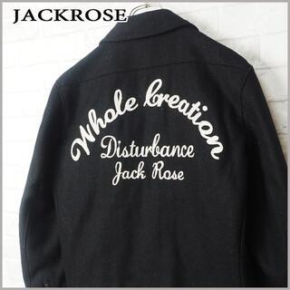 ジャックローズ(JACKROSE)のJACKROSE ジャックローズ アーチビッグロゴ ウールキルトJKT(ライダースジャケット)