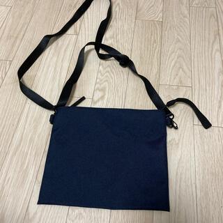 ムジルシリョウヒン(MUJI (無印良品))の無印良品 サコッシュ 紺色(ショルダーバッグ)