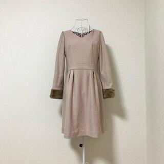 プロポーションボディドレッシング(PROPORTION BODY DRESSING)のproportion body dressing 袖ファー ワンピース M(ひざ丈ワンピース)