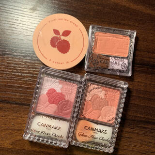 CANMAKE - canmake チークまとめ売り 4点セット キャンメイクパウダーチークス