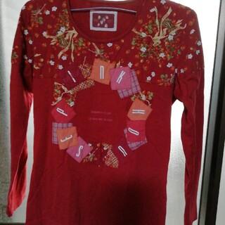 ピンクハウス(PINK HOUSE)のPINK HOUSE ♡苺リース柄ロンTシャツ(Tシャツ(長袖/七分))