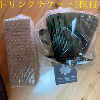 タリーズコーヒー(TULLY'S COFFEE)のタリーズ ミル&ドリッパー 未使用 緑 ドリンクチケット付(調理道具/製菓道具)