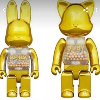メディコムトイ(MEDICOM TOY)のMY FIRST NY@BRICK R@BBRICK Gold Ver セット(キャラクターグッズ)