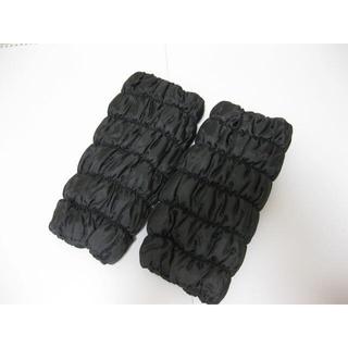 ◆オーラ◆新品 あったかほぐし 足首 岩盤浴 レッグウォーマー 黒(レッグウォーマー)