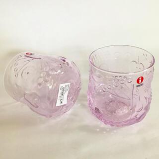 イッタラ(iittala)のイッタラ フルッタ レアな青みピンク ペールピンク 2個セット タンブラー(タンブラー)