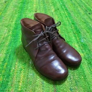 マーガレットハウエル(MARGARET HOWELL)のマーガレットハウエル アイデア ショートブーツ ブラウン 23cm(ブーツ)