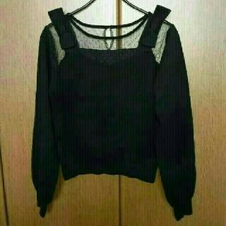 ミーア(MIIA)のMIIA✨肩リボンチュール切替ニット(ニット/セーター)