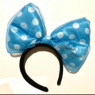 ディズニー(Disney)の【大きいドットリボン♡】ミニーマウスのカチューシャ(カチューシャ)