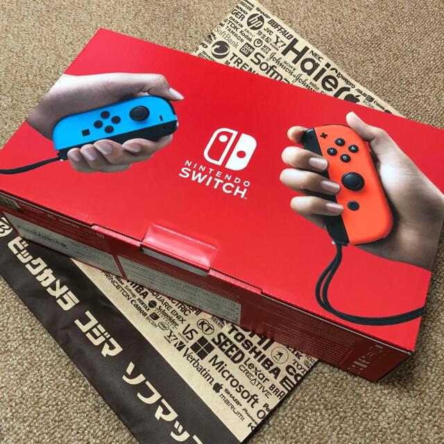 Nintendo Switch(ニンテンドースイッチ)のSwitch 任天堂 スイッチ 本体 ネオン ニンテンドウ 新品・未使用・未開封 エンタメ/ホビーのゲームソフト/ゲーム機本体(家庭用ゲーム機本体)の商品写真