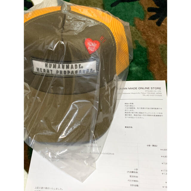 A BATHING APE(アベイシングエイプ)の込み Human made Boy scout mesh cap O.D メンズの帽子(キャップ)の商品写真
