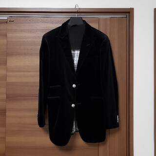 BURBERRY BLACK LABEL - BURBERRYBLACKLABEL ベロアジャケット 黒
