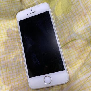 アイフォーン(iPhone)のシルバー iphone5S ソフトバンク(スマートフォン本体)