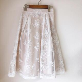 ミーア ♡ 花柄レースフレアスカート