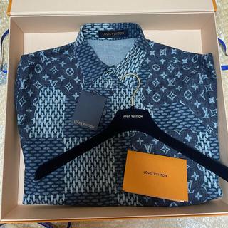 LOUIS VUITTON - ルイヴィトン NIGOコラボ ダミエフランネルシャツ ネイビー Mサイズ