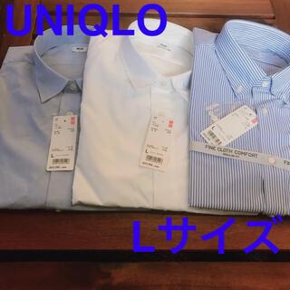 ユニクロ(UNIQLO)のUNIQLOメンズワイシャツLサイズ新品!(シャツ)