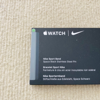 アップルウォッチ(Apple Watch)の【未開封】純正 Apple Watch Nike スポーツバンド 44mm(ラバーベルト)