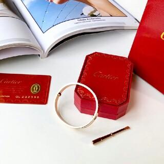 Cartier - Cartier カルティエ LOVE ブレスレット ピンクゴールド