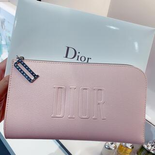 Christian Dior - ディオール Dior ノベルティポーチピンク箱付き