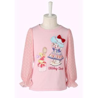 Shirley Temple - 新品 シャーリーテンプル おめかしねこちゃん長袖Tシャツ