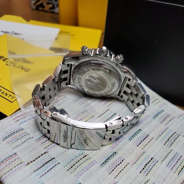 BREITLING(ブライトリング)のブライトリング クロノマット44 中古 黒文字盤 綺麗 メンズの時計(腕時計(アナログ))の商品写真