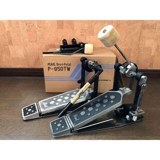 パール(pearl)の【極上品】Pearlツインペダル P-950TW+P-950セット(ペダル)
