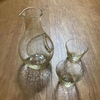 トウヨウササキガラス(東洋佐々木ガラス)の東洋佐々木ガラス 高瀬川 琥珀 冷酒セット G604-M72(食器)