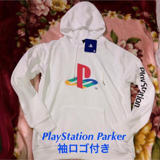 プレイステーション(PlayStation)のもうGUには無い‼️超ホワイトPlayStationデカロゴ&袖ロゴパーカーXL(パーカー)