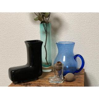 ヴィンテージ レトロ フラワーベース 瓶 花瓶 ヒヤシンスポット ブーツ ガラス